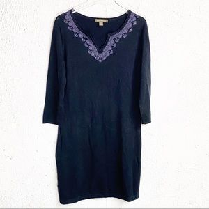 Tommy Bahama Dress Beaded Shift Blue Small